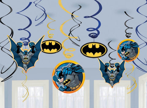 Batman Party Hanging Swirl Decoration - Yakedas Party and Giftware
