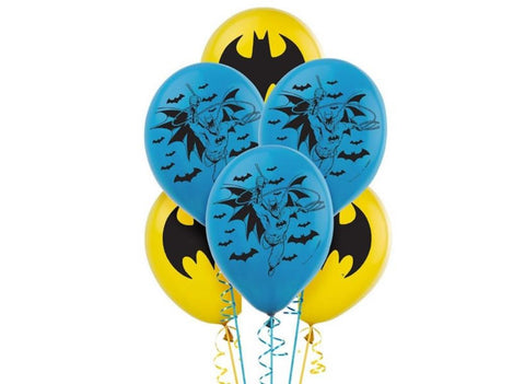Batman Party Latex Balloons - Yakedas Party and Giftware