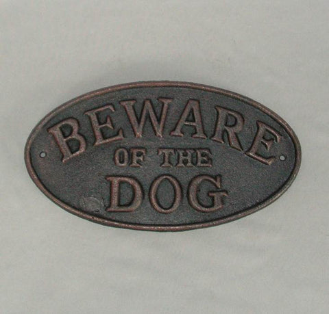 Beware Of Dog Plaque