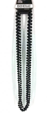 Beads Long Necklace (4pcs) 8mm*83cm Black - Yakedas Party and Giftware