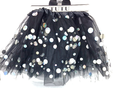 Black Shining Dot Tutu