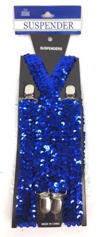 Adult Suspender Shinning Blue - Yakedas Party and Giftware