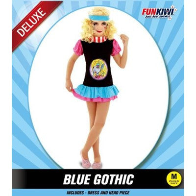 Child Gothic Girl Blue