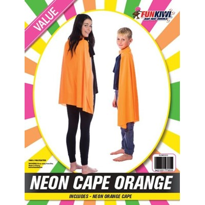 Neon Cape Orange - Yakedas Party and Giftware