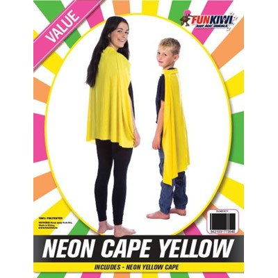 Neon Cape Yellow - Yakedas Party and Giftware