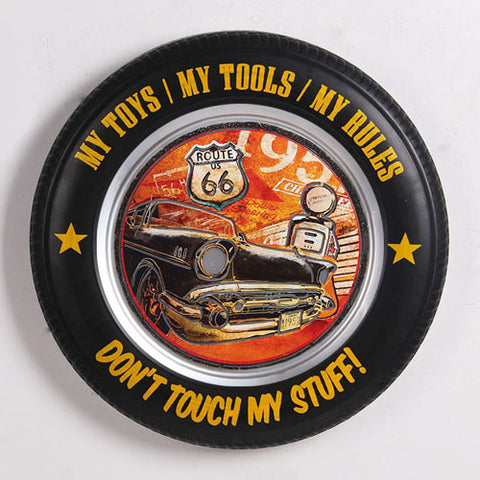 Don't Touch - Tyre Sign W/Light - Yakedas Party and Giftware