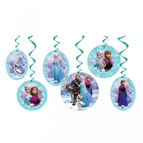 Frozen Party Hanging Swirl - Yakedas Party and Giftware