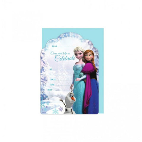 Frozen Party Invitation Cards - Yakedas Party and Giftware