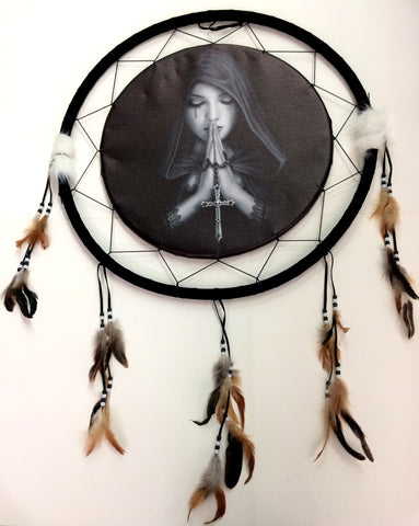 Gothic Prayer Dream Catcher - Yakedas Party and Giftware