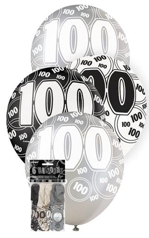 Glitz Black Latex Balloons - 100