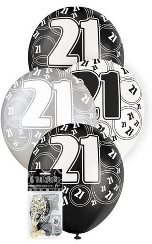 Glitz Black Latex Balloons - 21 - Yakedas Party and Giftware
