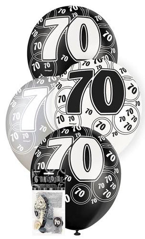 Glitz Black Latex Balloons - 70 - Yakedas Party and Giftware