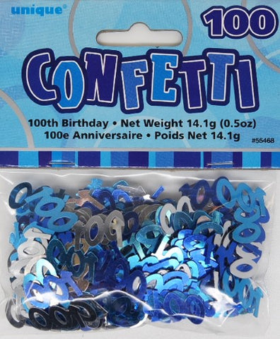 Glitz Blue 100 Confetti - Yakedas Party and Giftware