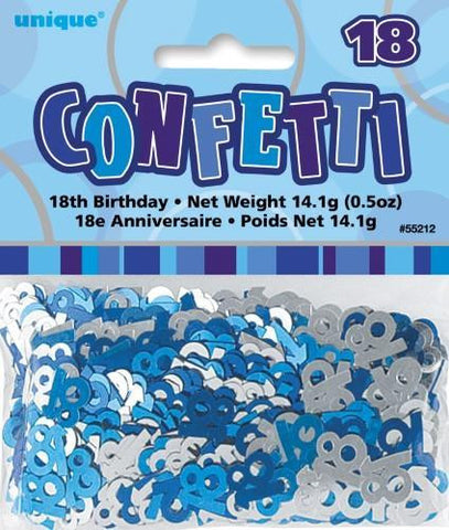 Glitz Blue 18 Confetti - Yakedas Party and Giftware