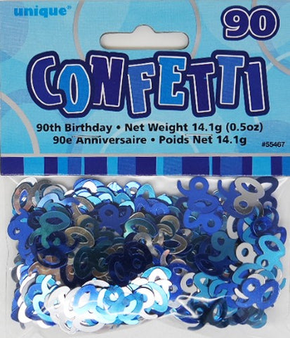 Glitz Blue 90 Confetti - Yakedas Party and Giftware