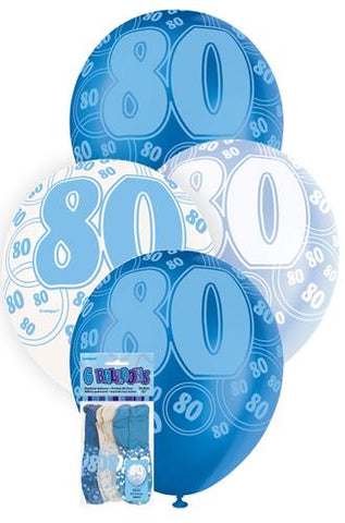 Glitz Blue Latex Balloons - 80 - Yakedas Party and Giftware