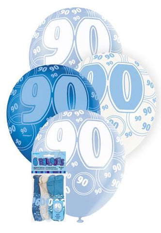 Glitz Blue Latex Balloons - 90 - Yakedas Party and Giftware