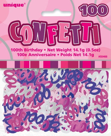 Glitz Pink 100 Confetti - Yakedas Party and Giftware