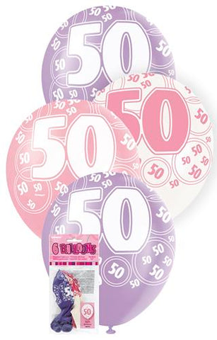 Glitz Pink Latex Balloons - 50 - Yakedas Party and Giftware