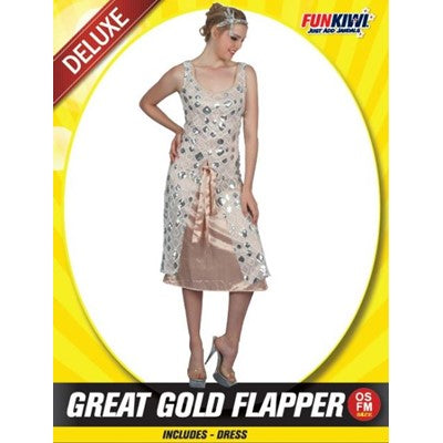 Great Gold Flapper Dress