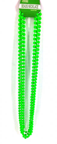 Beads Long Necklace (4pcs) 8mm*83cm Green - Yakedas Party and Giftware