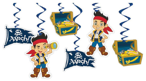 Jake and the Neverland Pirates Party Hanging Swirl Decoration - Yakedas Party and Giftware