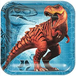 Jurassic World Party Dinner Square Plates - Yakedas Party and Giftware