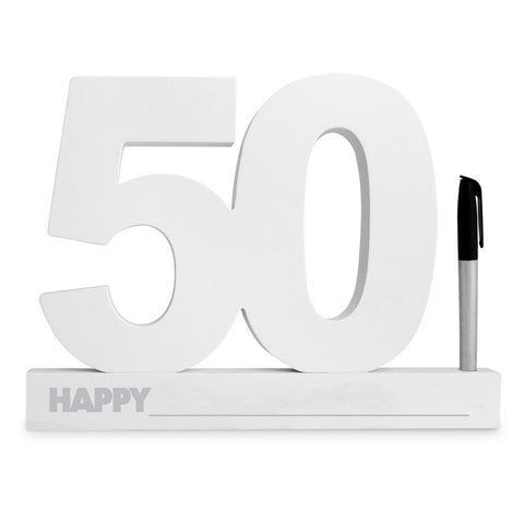 50 Sign it Block White