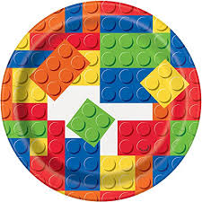 Lego Party Lunch Plates - Yakedas Party and Giftware