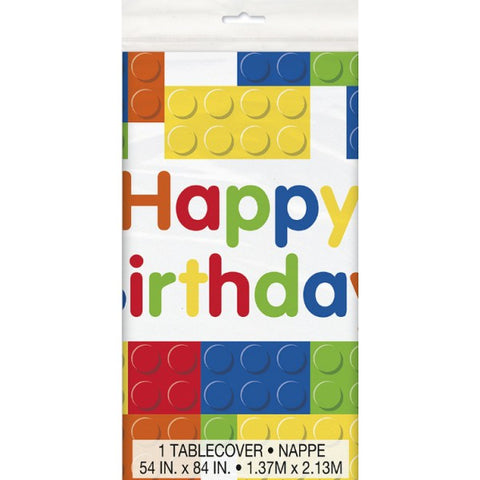 Lego Party Table Cover - Yakedas Party and Giftware