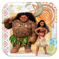 Moana Party Lunch Plates - Yakedas Party and Giftware