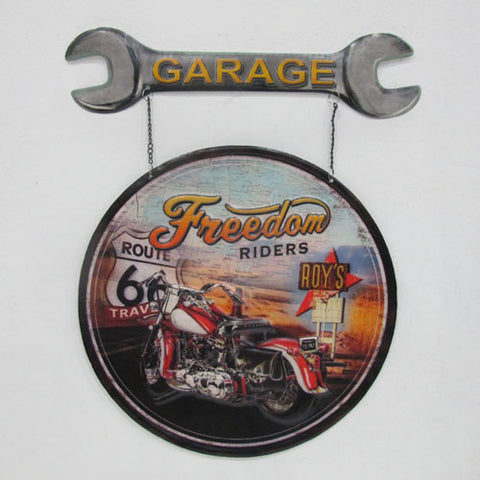 Motorbike With Spanner Sign - Yakedas Party and Giftware
