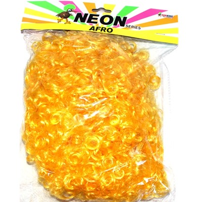 Neon Afro Yellow - Yakedas Party and Giftware