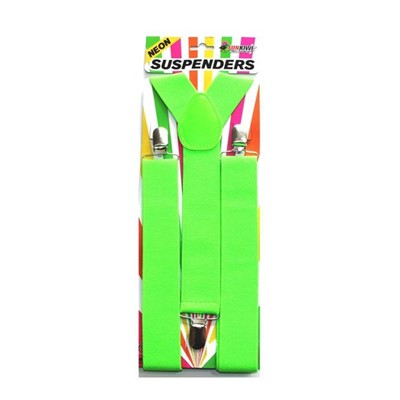 Neon Suspenders Green - Yakedas Party and Giftware