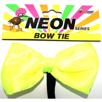 Neon Bow Tie Yellow - Yakedas Party and Giftware