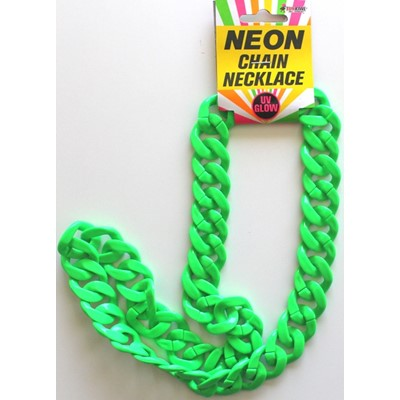 Neon Chain Necklace Green - Yakedas Party and Giftware