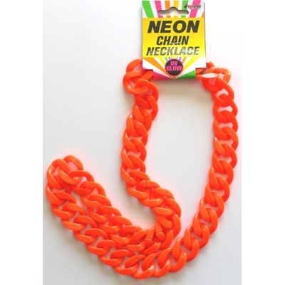 Neon Chain Necklace Orange - Yakedas Party and Giftware
