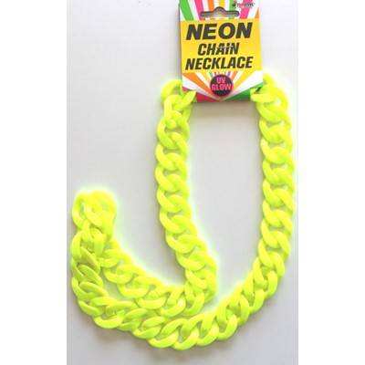 Neon Chain Necklace Yellow