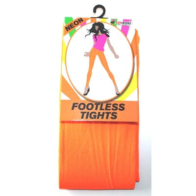 Neon Footless Tights Orange - Yakedas Party and Giftware