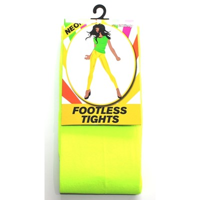 Neon Footless Tights Yellow