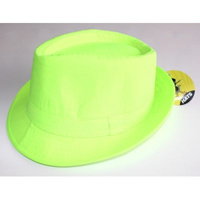 Neon Gangster Hat Green - Yakedas Party and Giftware