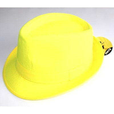 Neon Gangster Hat Yellow - Yakedas Party and Giftware