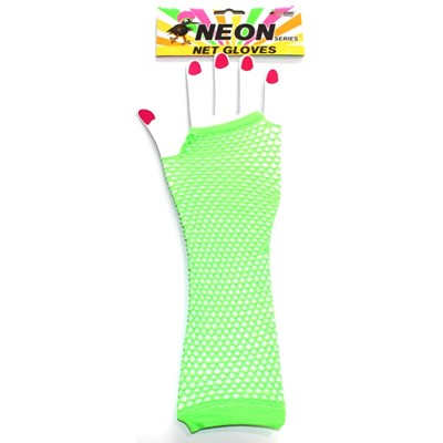 Neon Net Glove Green - Yakedas Party and Giftware