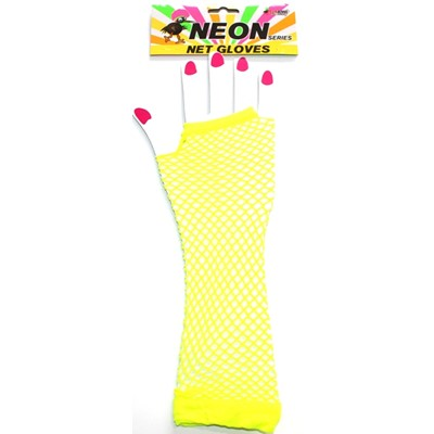 Neon Net Glove Yellow - Yakedas Party and Giftware