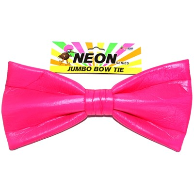 Neon Jumbo Bow Tie Pink - Yakedas Party and Giftware