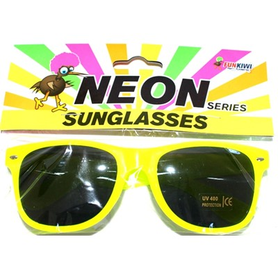 Neon Sunglasses Yellow - Yakedas Party and Giftware