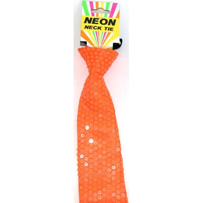 Neon Tie Orange - Yakedas Party and Giftware
