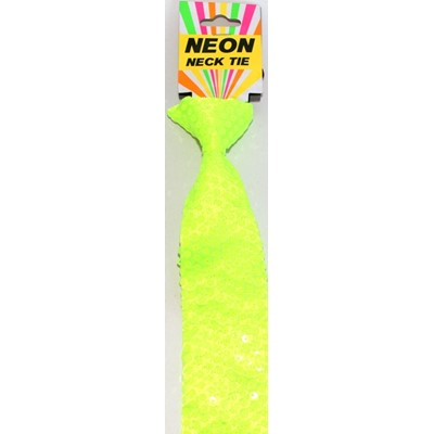 Neon Tie Yellow - Yakedas Party and Giftware
