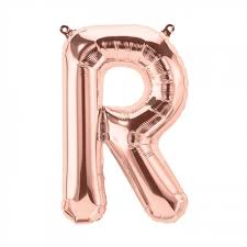 Letter R Foil Balloon - Yakedas Party and Giftware