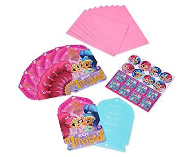 Shimmer & Shine Party Invitation Cards - Yakedas Party and Giftware